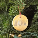 First Day: How to make stamped salt-dough ornaments with glaze