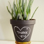 Third Day: Christmas Chalkboard Pots with succulents