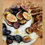 Roasted Brie with Figs and Honey