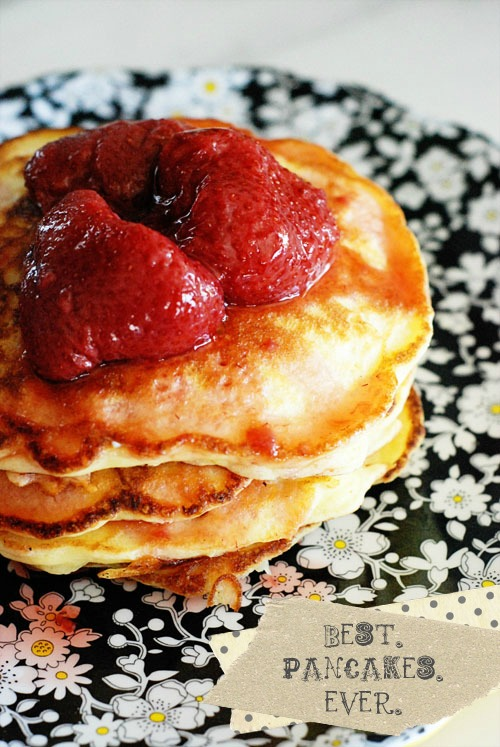 An easy pancake recipe for a Saturday morning - A Golden Afternoon: Simplified Home Living