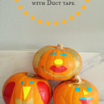 Pumpkin Decorating Ideas: Faces from Duct Tape