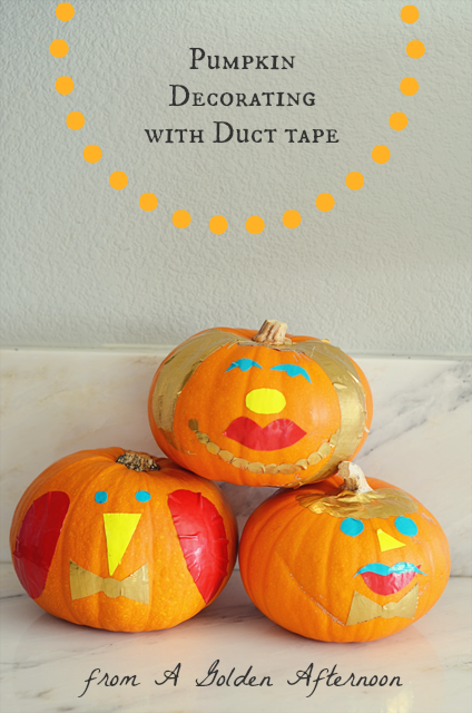 pumpkin decorating ideas faces from duct tape a golden afternoon