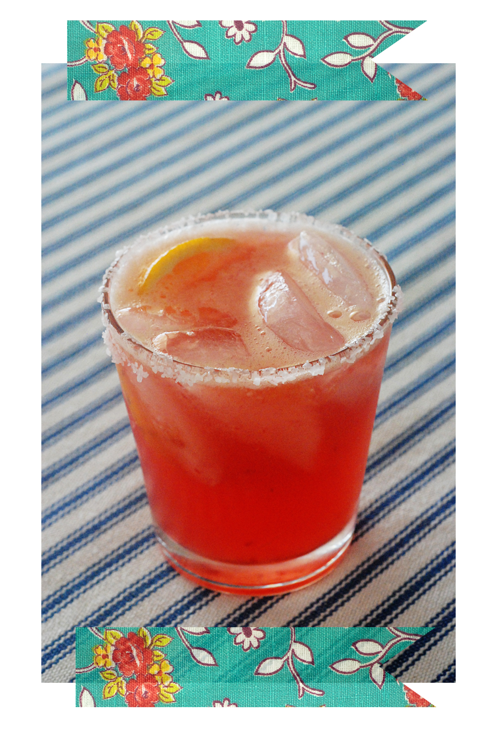 Cocktail: Blood Orange Margarita - A Golden Afternoon: Simplified Home Living