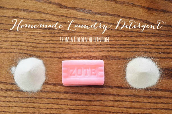Homemade Laundry Detergent Recipe - A Golden Afternoon: Simplified Home Living