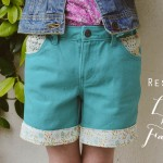Weekend Project: Restyle Shorts with Lace and Fabric